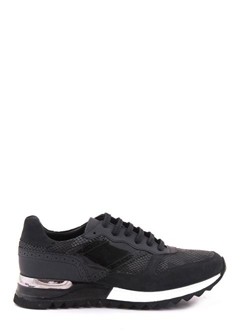 Mocassini Bağcıklı Spor Ayakkabı Siyah